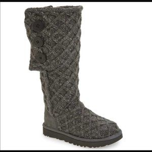 Ugg  Lattice Cardy Boots Gray size 8